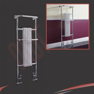 590mm(w) x 1500mm(h) Windsor Chrome Tall Traditional Heated Towel Rail