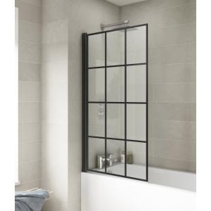 Pacific Bath Screens Square Black Framed Bath Screen - Insitu