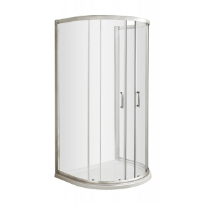 Pacific 1050mm D Shape Shower Enclosure with Round Handles