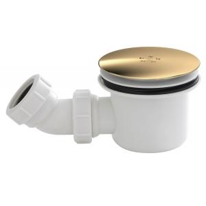White & Brass Fast Flow Shower Waste
