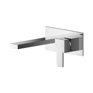 Sanford Wall Mounted 2 Tap Hole Basin Mixer With Wall Plate