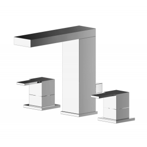 Sanford Deck Mounted 3 Tap Hole Basin Mixer With Pop Up Waste