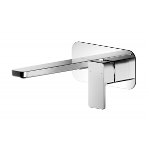Windon Wall Mounted 2 Tap Hole Basin Mixer With Wall Plate