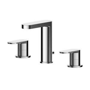 Binsey Deck Mounted 3 Tap Hole Basin Mixer With Pop Up Waste