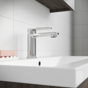 """""""Bailey"""" Mono Basin Mixer Tap with Push Button Waste Single Handle"""