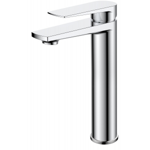 Bailey Tall Basin Mixer Tap with Push Button Waste Single Handle