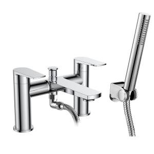 Bailey Bath Shower Mixer Tap Deck Mounted Dual Handle