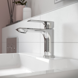 """""""Limit"""" Mono Basin Mixer Tap with Push Button Waste Single Handle"""