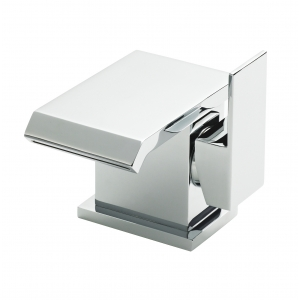 Minimalist Side Action Mono Basin Mixer Tap Single Handle with Push Button Waste