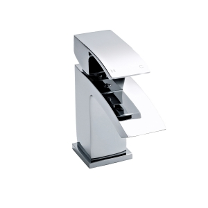 Vibe Mini Mono Basin Mixer Single Handle with Push Button Waste
