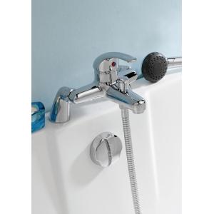 """Eon"" Single Lever Bath Shower Mixer Tap Deck Mounted"