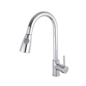 Kitchen Sink Mixer Tap Pull-Out Spray Single Handle