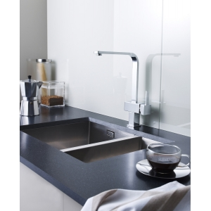 Square Kitchen Sink Mixer Tap Single Handle