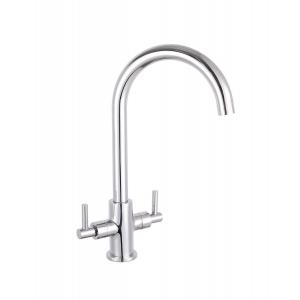 Kitchen Sink Mixer Tap Dual Handle 172mm Spout Reach