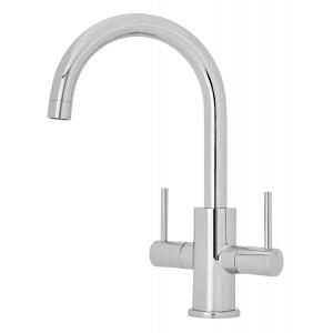 Kitchen Sink Mixer Tap Dual Handle 150mm Spout Reach