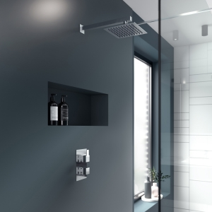 """""""Sanford"""" Twin Thermostatic Shower Valve With Diverter"""