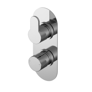 Arvan Twin Thermostatic Shower Valve With Diverter