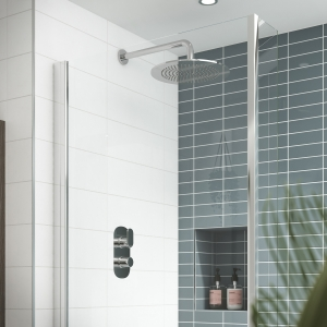 """""""Binsey"""" Twin Thermostatic Shower Valve With Diverter"""