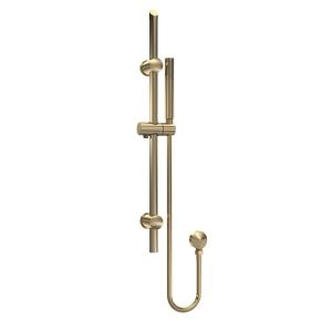 Brushed Brass Round Slide Rail Kit