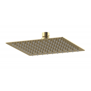 Brushed Brass Square Fixed Head