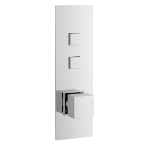 Square Push Button Valve - Two Outlet