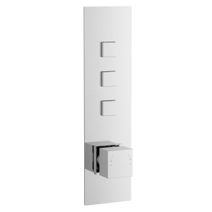Square Push Button Valve - Three Outlet