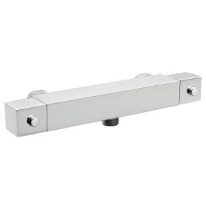 Square Thermostatic Bar Shower Valve Bottom Outlet