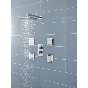 Chrome 200mm Square Fixed Shower Head