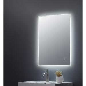 """Leva"" 500mm(w) x 700mm (Reversible) Ambient Lit LED Touch Sensor Mirror"
