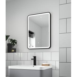 """Hydrus"" 500mm(w) x 700mm(h) Black Framed LED Touch Sensor Mirror"