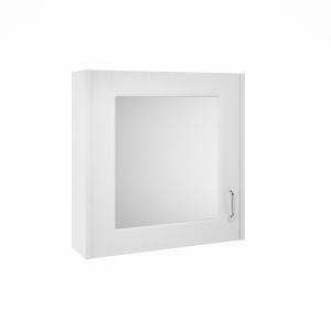 York White Ash 600mm Single Door Mirror Unit