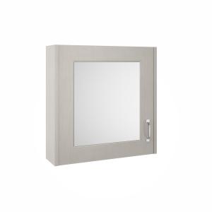 York Stone Grey 600mm Single Door Mirror Unit