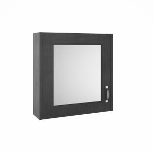 York Royal Grey 600mm Single Door Mirror Unit