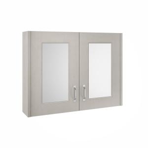York Stone Grey 800mm Two Door Mirror Unit