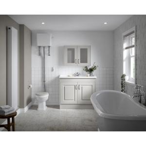 """York"" Stone Grey 790mm (W) x 595mm (H) x 162mm (D) Twin Door Mirror Cabinet"
