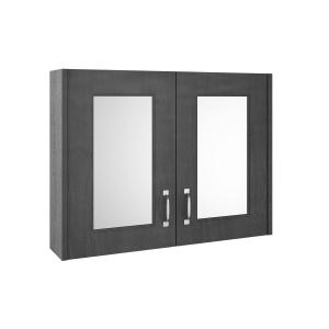 York Royal Grey 800mm Two Door Mirror Unit