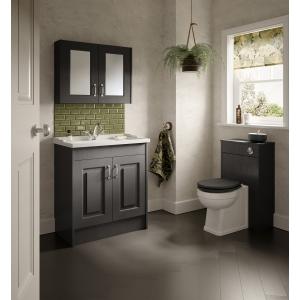 """York"" Royal Grey Soft Close Toilet Seat - 350mm (w) x 451mm (L) x 60mm (h)"
