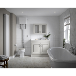 """""""Carlton"""" 465mm (w) x 2140mm (h) High Level Traditional Toilet Inc Flush Pipe Kit & Cistern (Seat Not Included)"""