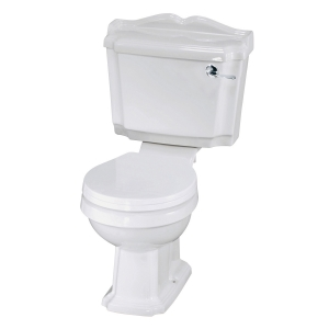 Legend Close Coupled Toilet Pan with Cistern and Toilet Seat
