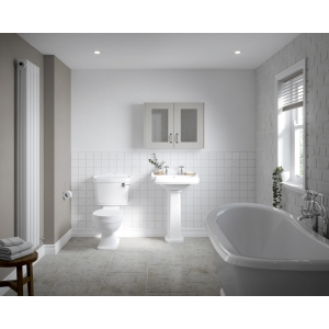 """""""Legend"""" 715mm(W) x 855mm(H) Close Coupled Toilet Pan (Includes Cistern and Toilet Seat)"""