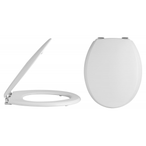 Traditional Round Toilet Seat Chrome Hinges