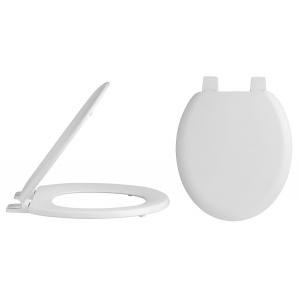 Traditional Round Toilet Seat Plastic Hinges