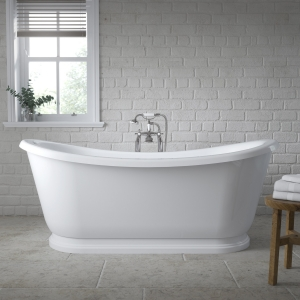 Freestanding Roll Top Slipper Bath 1740mm x 800mm - Insitu