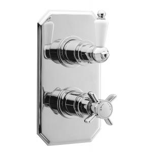 Edwardian Twin Thermostatic Shower Valve