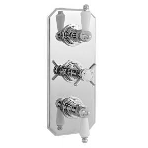 Edwardian Triple Thermostatic Shower Valve