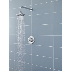 6 Inch Chrome Traditional Fixed Shower Head