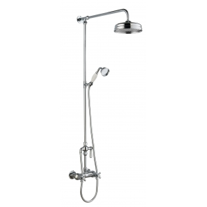Traditional Thermostatic Shower Valve and Rigid Riser Kit with Diverter