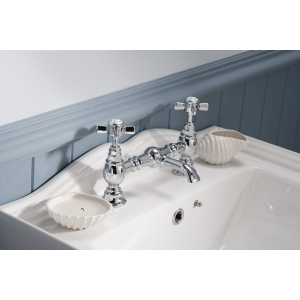 """""""Beaumont"""" Luxury 2-Hole Basin Mixer Tap Deck Mounted"""