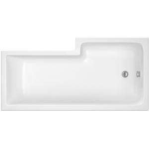 SquareShower Bath Left Handed 1500mm x 850mm