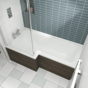 Square Luxury Shower Bath - 1500mm To 1700mm (L) x 850mm (W) Left Or Right Hand Option